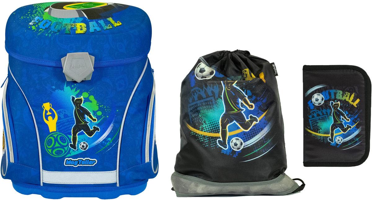 Magtaller Ранец школьный J-flex Football с наполнением 29 предметов цена
