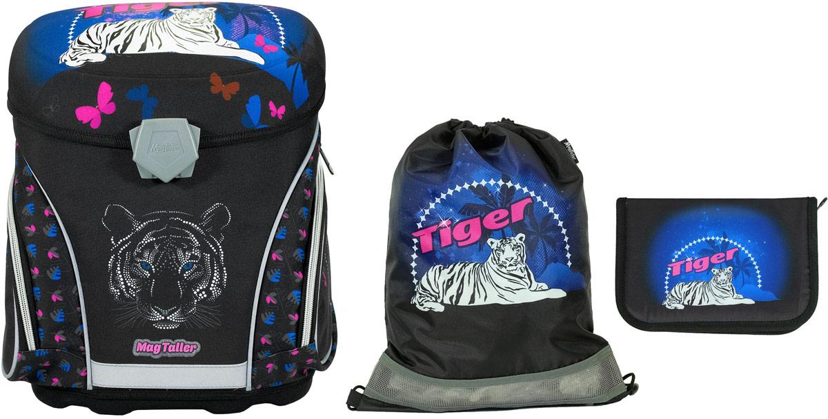 Magtaller Ранец школьный J-flex Tiger с наполнением 29 предметов21311-23Ранец школьный J-flex, Tiger с наполнением: пенал 27 предметов, мешок для обуви