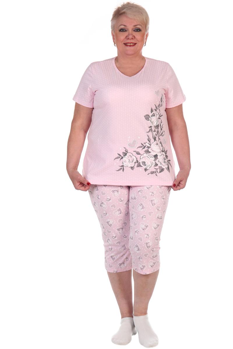 Фото - Домашний комплект женский Хоум Стайл, цвет: розовый. ХОС-939011. Размер 52 (52) удочка зимняя swd ice bear 60 см