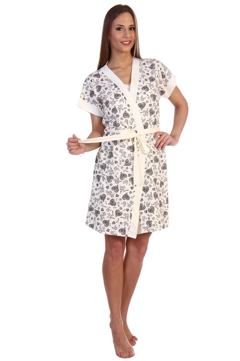 Домашний комплект женский Хоум Стайл, цвет: светло-бежевый. ХОС-610042. Размер 48 (48)