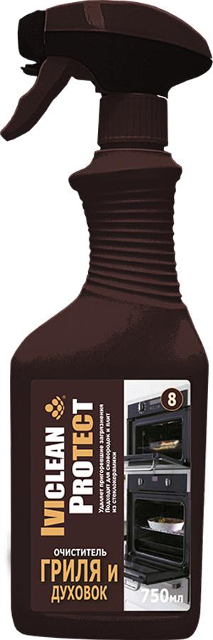 Очиститель IVIclean proTECt, для гриля, духовки, 750 млИ00005799Эффект воздействия: Легко, быстро и гигиенически чисто удаляет даже самые сильные пригоревшие остатки от пищевых продуктов и масляные загрязнения. Быстрое и мощное воздействие также на вертикальных поверхностях, густая гелевая структура поможет задержать средство на поверхности на более длительное время. Область применения: Для всех духовок, конвекционных плит, встроенных электропечей, противней, стеклокерамики. Форм для запекания, сковород, кастрюль, решеток для гриля и стекол на дверцах духовок и стекол каминов. Важные указания: Учитывать указания по уходу от производителей духовок. Защищать поверхности, примыкающие к очищаемой от соприкосновения с очистителем. При необходимости сразу же промыть большим количеством воды. Состав: менее % 5 неионогенные и анионные ПАВ, ароматизатор, содержит гидроксид натрия.Указания по безопасности : Может вызвать химический ожог. Аэрозоль не вдыхать. Избегать контакта с глазами, в случае попадания в глаза промыть большим количеством воды и обратиться к врачу. При проглатывании сразу же обратиться к врачу и показать этикетку. При работе одевать защитные перчатки и защитные очки.