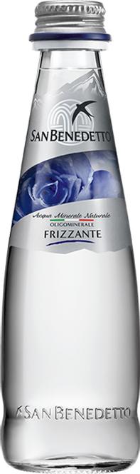 Сан Бенедетто Вода газированная минеральная природная питьевая столовая, 0,2 л, стекло, San Benedetto