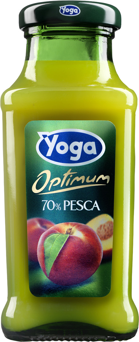 Yoga Напиток персиковый c добавлением сахара фруктовый сокосодержащий, 0,2 л добрый pulpy апельсин напиток сокосодержащий с мякотью 0 9 л