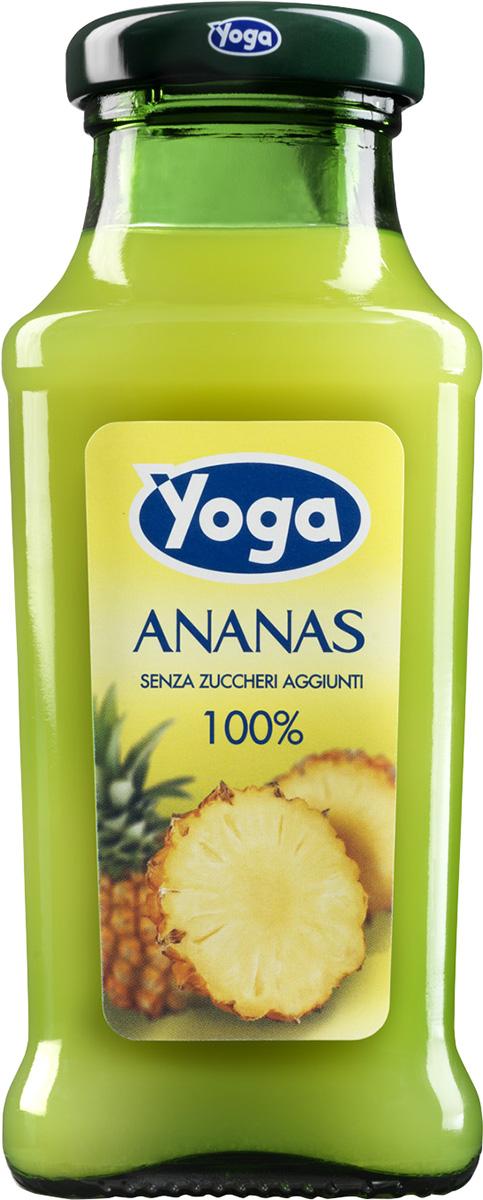Yoga Сок ананасовый восстановленный фруктовый, 0,2 л armajuice сок яблочный 0 33 л