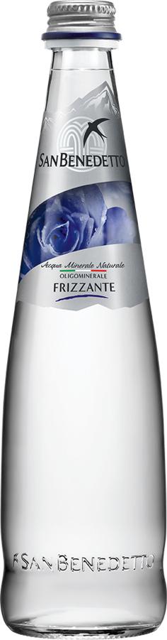 Сан Бенедетто Вода газированная минеральная природная питьевая столовая, 0,5 л, стекло, San Benedetto