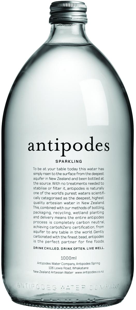 Антипоудз Вода газированная минеральная природная питьевая столовая, 1 л.
