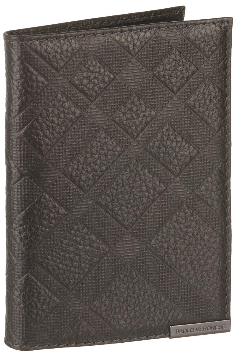 Обложка для паспорта женская Paolo Veronese, цвет: серый. O057-A30-57Натуральная кожаОбложка для паспорта Paolo Veronese из натуральной кожи. Внутри карманы из пластика. Размеры (XxYxZ): 97х138х4