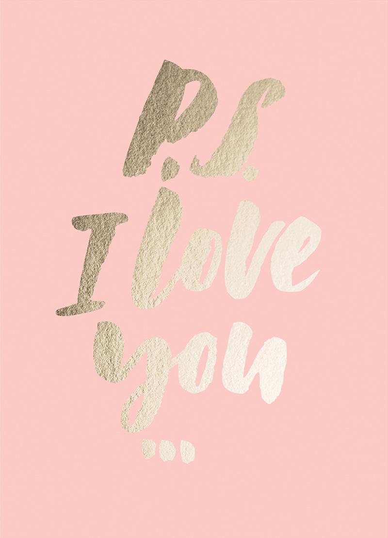 Открытка Красота в Деталях P.S. I love you, 13 х 18 смKVD.DV.000.00.02Яркая открытка с красочной иллюстрацией и тиснением золотой фольгой. Открытка напечатана на плотной матовой бумаге, в стоимость открытки входит простой белый конверт с прямым клапаном.