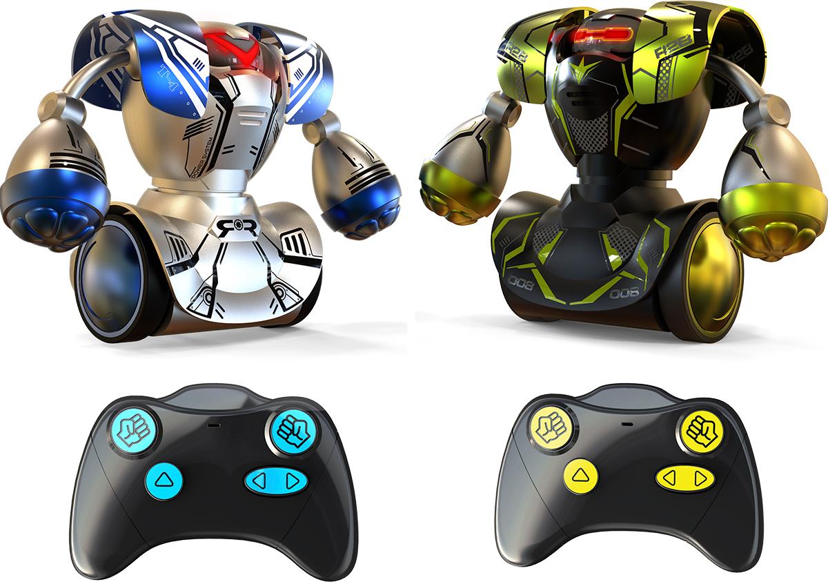 Silverlit Old School Роботы Робокомбат машинки hti паровозик roadsterz синий с вагоном звуковыми и световыми эффектами
