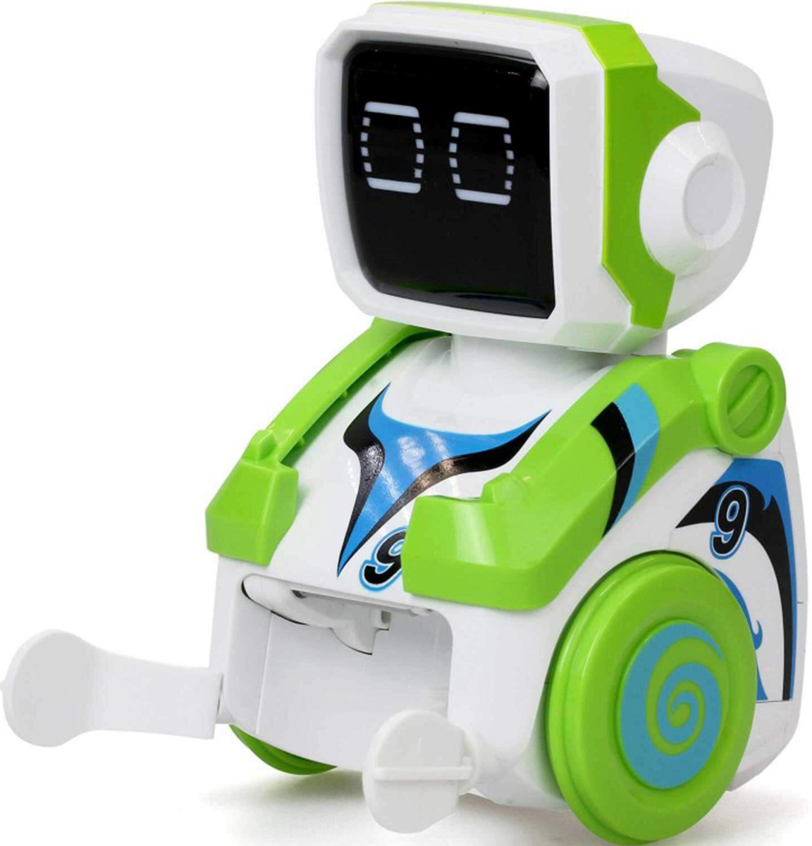 Silverlit Old School Робот футболист Кикабот цвет зеленый clippasafe clippasafe ворота безопасности металлические