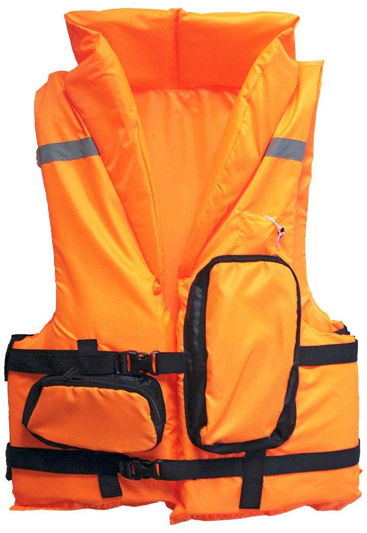Жилет спасательный Таежник Каскад-2, цвет: оранжевый. Размер 44-4816-1-1-063Жилет предназначен для использования при проведении работ на плавсредствах, для водных видов спорта, рыбалки, охоты. Жилет является индивидуальным страховочным средством, регулируется по фигуре человека при помощи системы строп. Оснащен воротником, светоотражающими полосами, свистком.Ткань верха: Oxford Внутренняя ткань: Taffeta Наполнитель: плавучий НПЭ. Размер: 44- 48 Цвет: оранжевыйЗастежка: фастекс / пластик Рекомендуемый вес на человека не более (по размерам): 44-48- 60кг.
