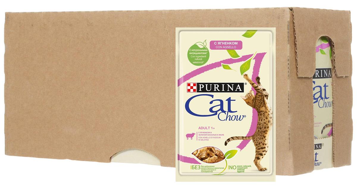 Консервы Cat Chow, для взрослых кошек, с ягненком и зеленым горошком, 24 шт х 85 г витамин д3 водный для грудничков в киеве