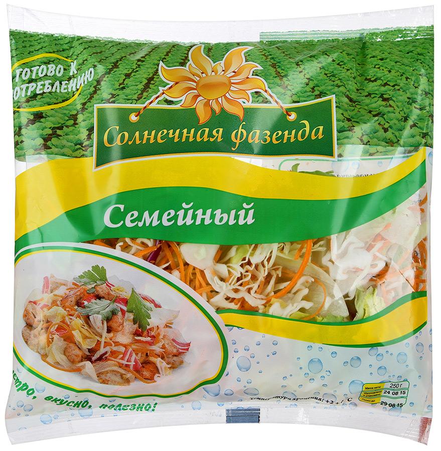 Солнечная Фазенда Салатный микс Семейный, 250 г солнечная фазенда салат из овощей тосканский 250 г