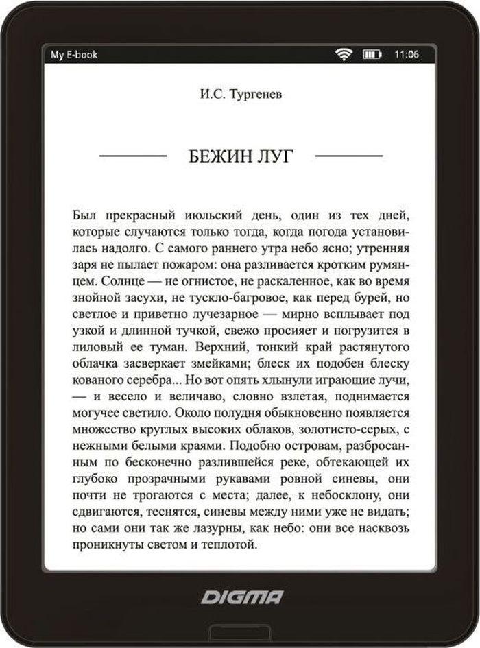 Digma X600, Blackэлектронная книга Digma