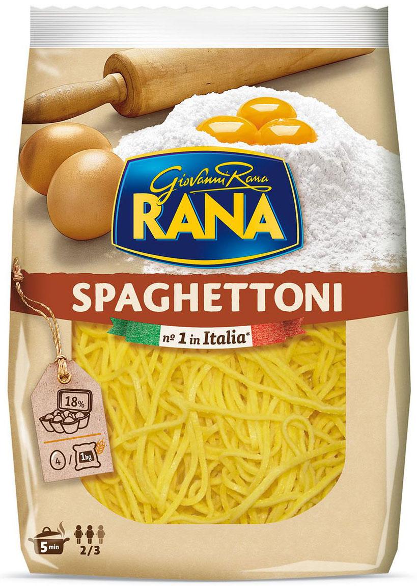 Rana Спагеттони с добавлением яйца, 250 г romeo rossi паста яичная 4 яйца ригатони трехцветная 500 г