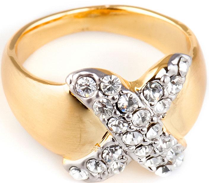 Кольцо Selena, цвет: золотистый. 60028778. Размер 17