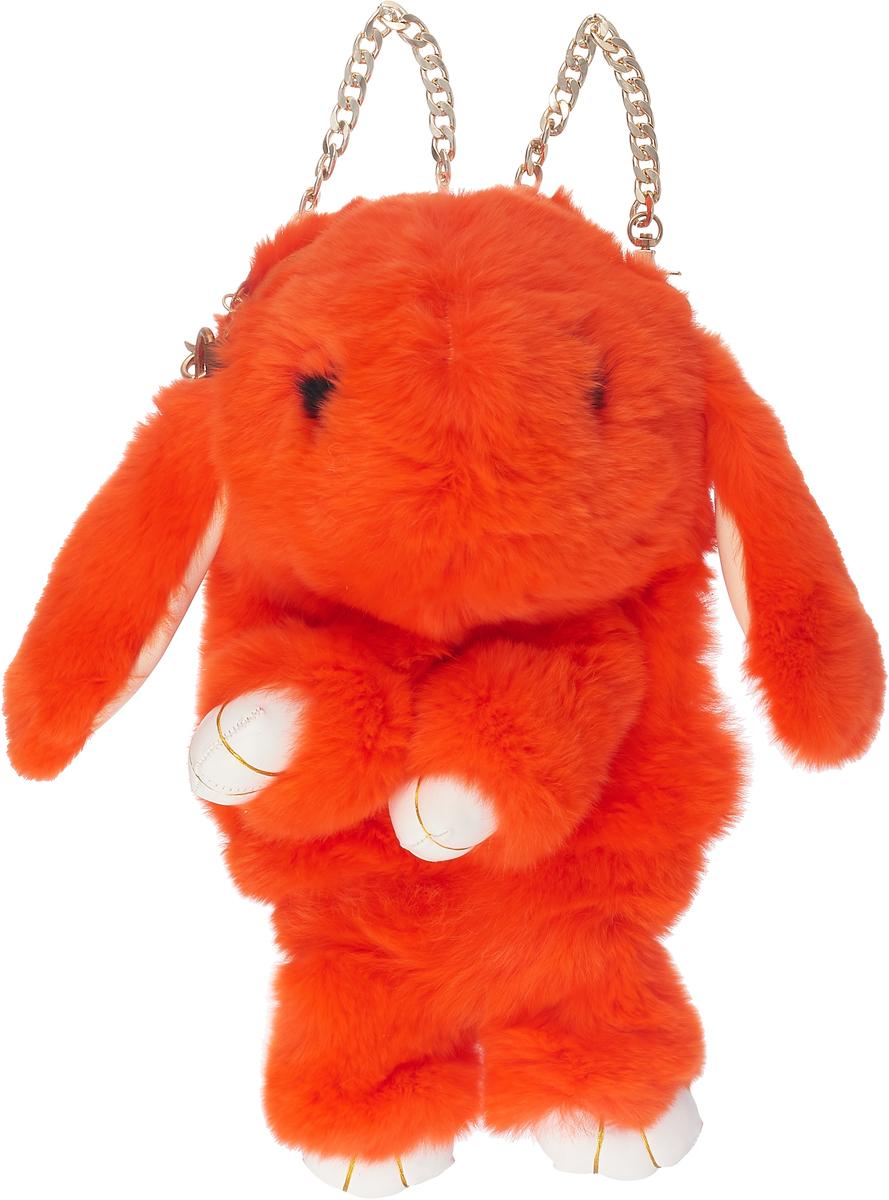 Рюкзак-сумка детский Пушистый кролик цвет ярко-оранжевыйРК-515_ярко-оранжевый
