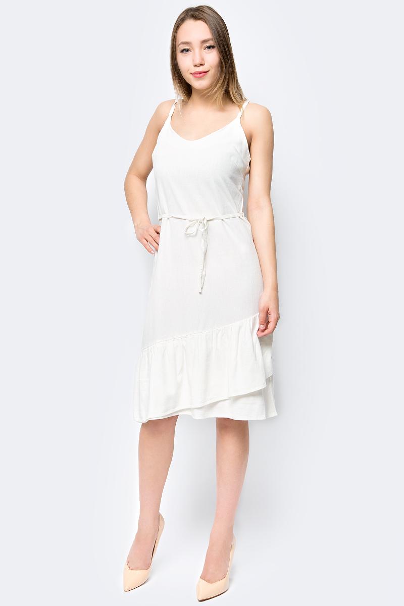 Сарафан Vero Moda, цвет: белый. 10192475. Размер  (44)