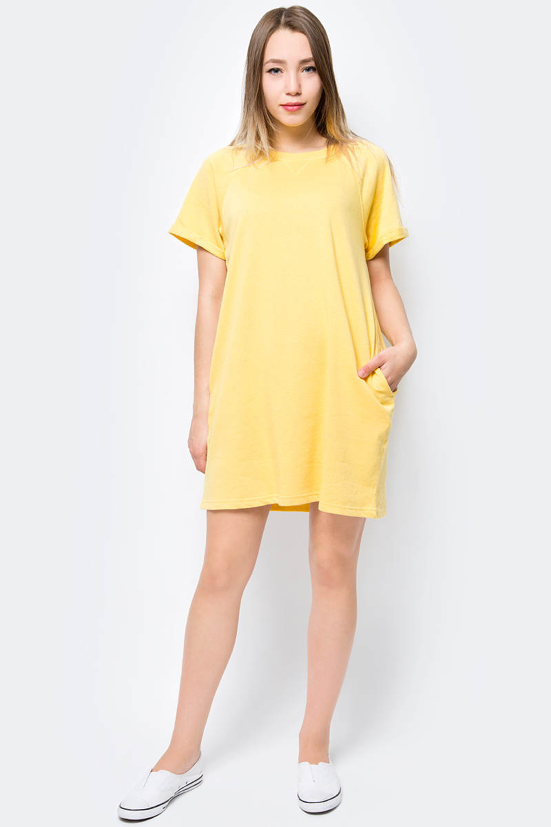 Платье Vero Moda, цвет: желтый. 10193468. Размер M (44) vero moda свитер с длинными рукавами