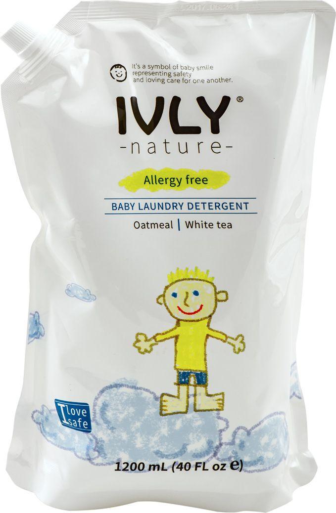 """Гипоаллергенное средство для стирки детского белья IVLY """"Baby Laundry Detergent"""" с экстрактом белого чая, 1,2 л"""