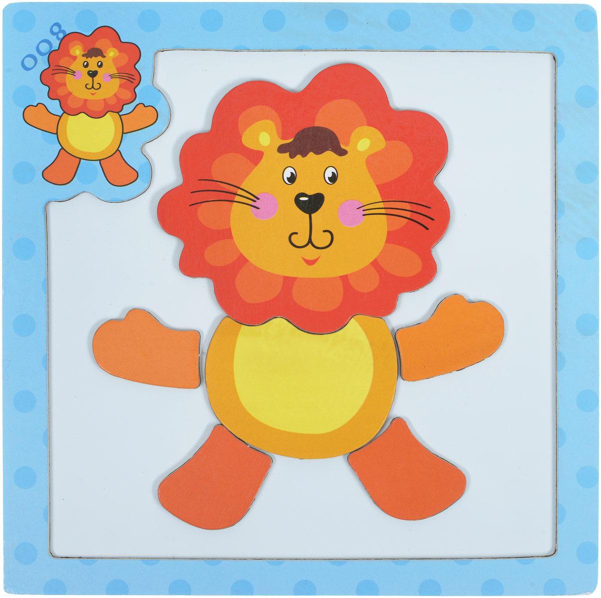 все цены на Mapacha Магнитный пазл Животные Лев
