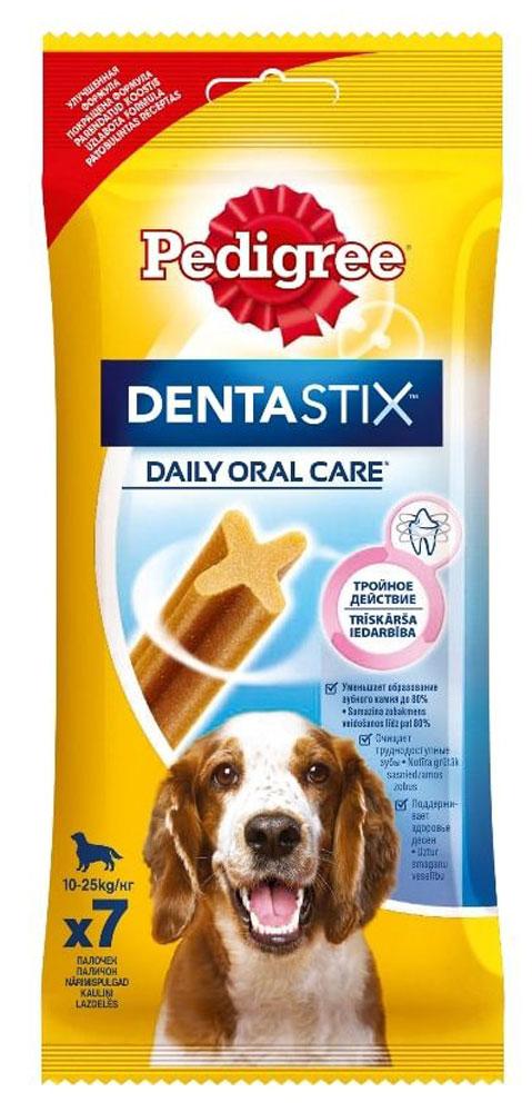 Лакомство по уходу за зубами Pedigree Denta Stix для собак средних и крупных пород, 180 г