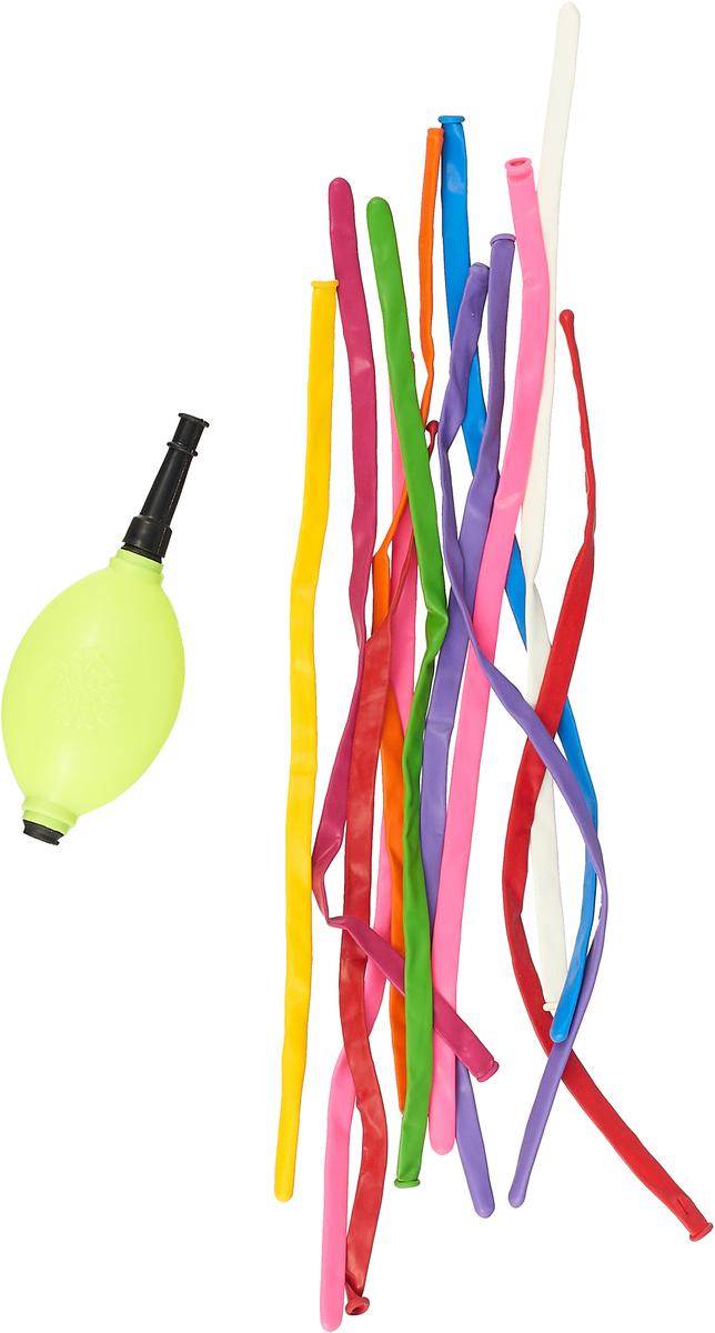 Веселый хоровод Набор воздушных шаров для моделирования с насосом 12 шт KL40938_насос овальный веселый хоровод набор шаров 30 см 100 шт цвет в ассортименте kl40897