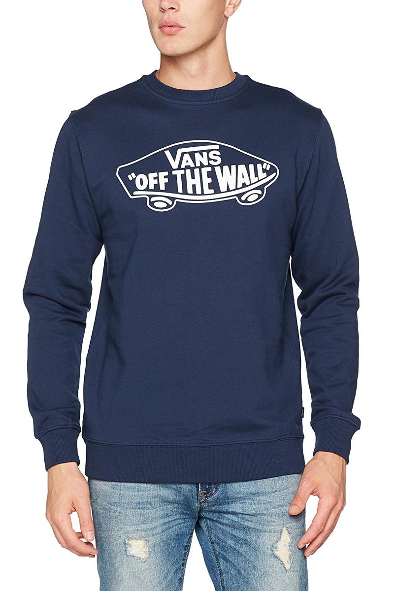 Купить Свитшот мужской Vans Otw Crew, цвет: синий. V002MN5S2. Размер XS (44/46)