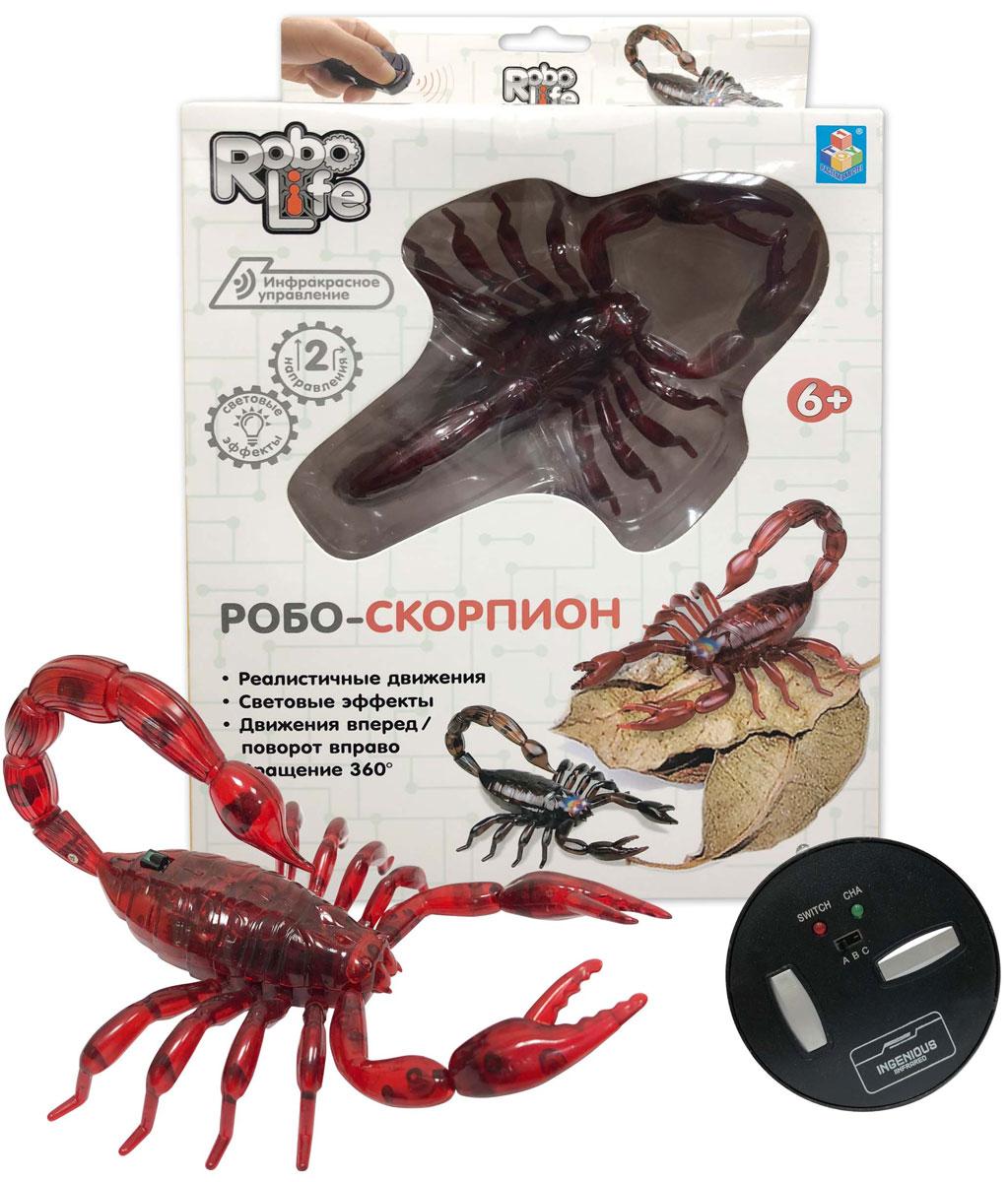 1TOY Робо-скорпион на ИК управлении цвет красный - Интерактивные игрушки
