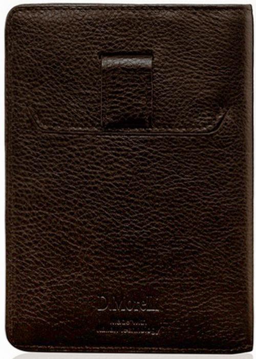 Обложка для паспорта мужская D. Morelli Texas, цвет: черный. DM-FP01-F001Натуральная кожаФутляр для заграничного паспорта с хлястиком. Внутренний функционал: прорезной карман на лицевой стороне; 2 прорезных кармашка для пластиковых/визитных карт на обороте. Удобная и практичная вещь, особенно для тех, кто часто путешествует. Документ надежно защищен, но в то же время его можно моментально достать, просто потянув за хлястик.