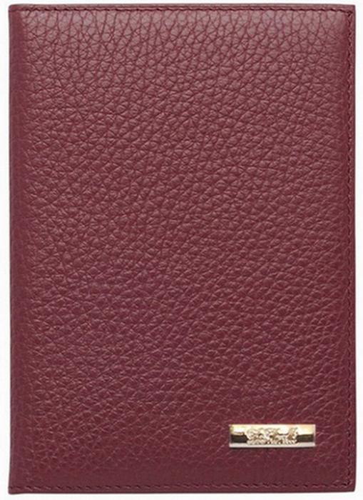 Обложка для паспорта женская D. Morelli Павия, цвет: бордовый. DM-PS02-F97