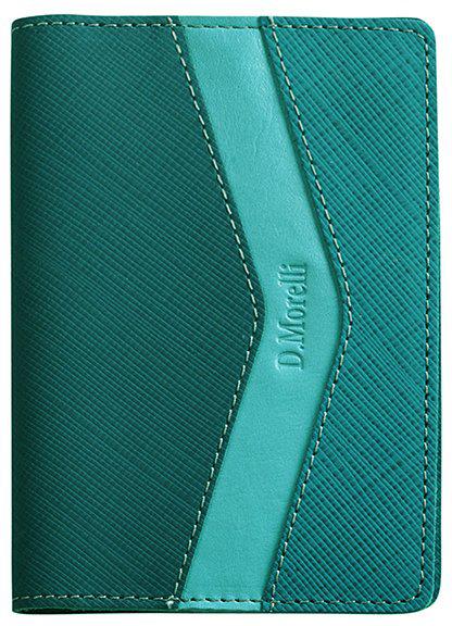Обложка для паспорта женская D. Morelli Верона, цвет: бирюзовый. DM-PS09-RK78