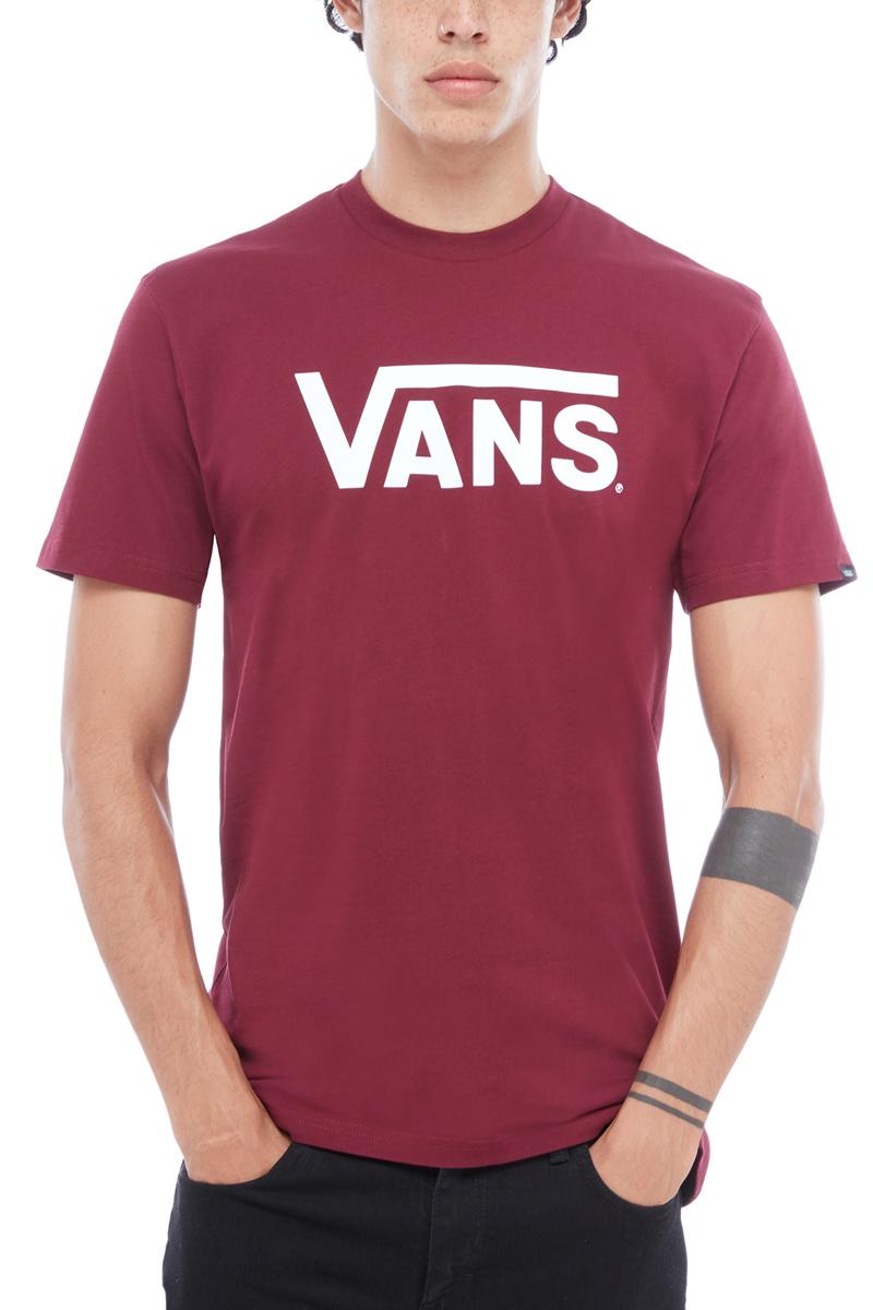 Футболка мужская Vans Classic, цвет: бордовый. V00GGGZ28. Размер XL (52/54)