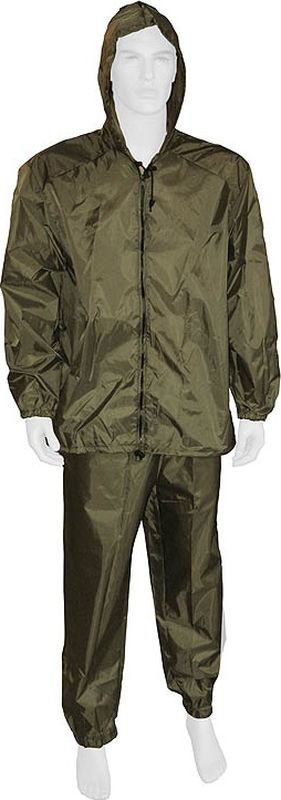 Костюм водоотталкивающий SM Лес: куртка, брюки, цвет: зеленый. SM-009. Размер 60/62-170/176
