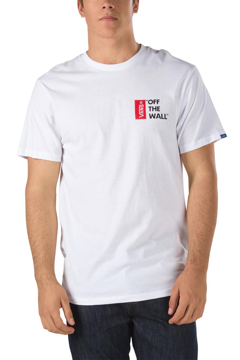 Футболка мужская Vans Off The Wall, цвет: белый. V5Y0WHT. Размер XL (52/54)