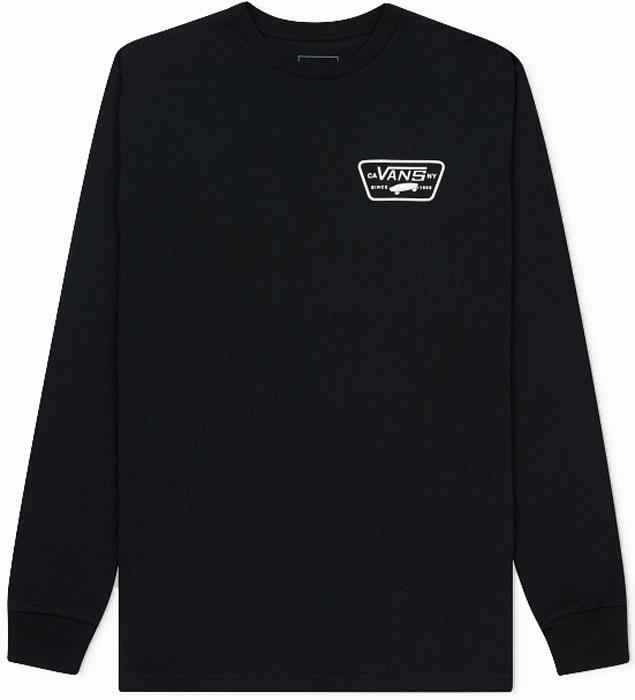 Футболка с длинным рукавом мужская Vans Full Patch Back L, цвет: черный. VA2XCMBLK. Размер XL (52/54)