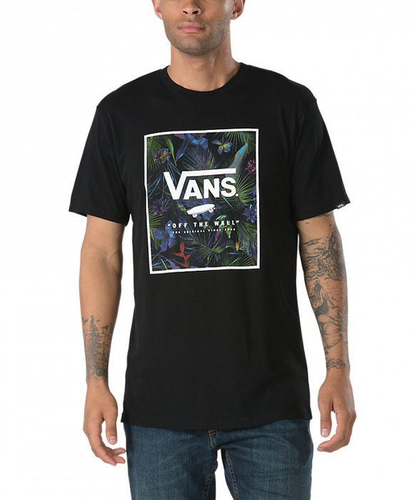 Футболка мужская Vans Print Box, цвет: черный. VA312SPGZ. Размер L (50/52) футболка мужская mitre цвет голубой 5t40033mscb размер l 50 52