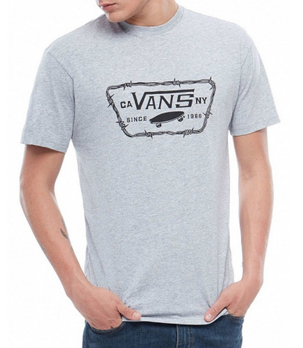 Купить Футболка мужская Vans Full Patch Barbed, цвет: серый. VA3H5JATH. Размер XS (44/46)