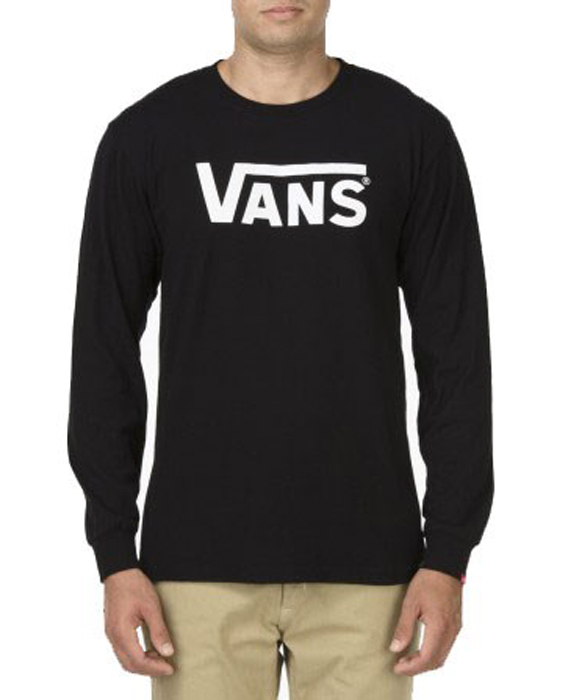 Купить Футболка с длинным рукавом мужская Vans Classic Ls, цвет: черный. VK6HY28. Размер M (48/50)