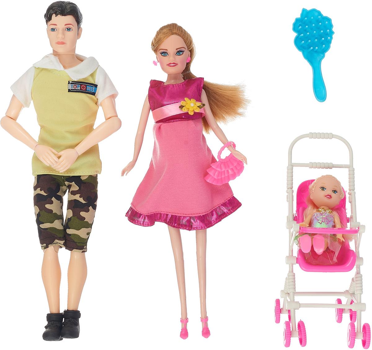 Veld-Co Набор кукол Счастливая семья вид 2 veld co игровой набор с мини куклой my lovely princess цвет одежды сиреневый розовый голубой