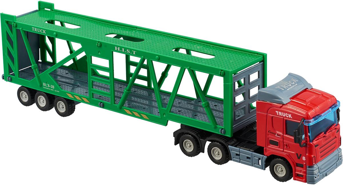 Junfa Toys Автовоз цвет зеленый красный junfa toys автовоз инерционный с погрузчиком excellent transport car