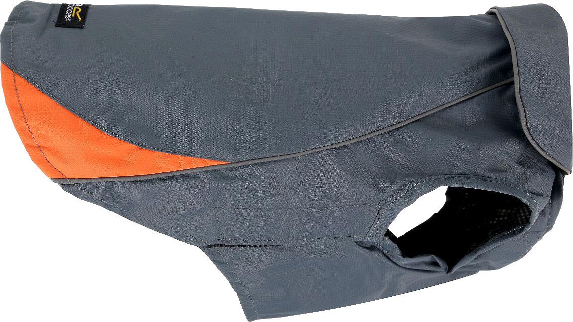 Попона для собак Regatta RainguardDog Coat, цвет: серый, оранжевый. Размер SRDE003Водонепроницаемая и ветрозащитная попона для собак для прогулок в холодное время года. Светоотражающая отделка для прогулок в условиях низкой освещенности для дополнительной безопасности. Быстрое и удобный захват для крепления на питомце. Доступны 3 размера (длина по спине) - 30 см, 40 см, 50 см.