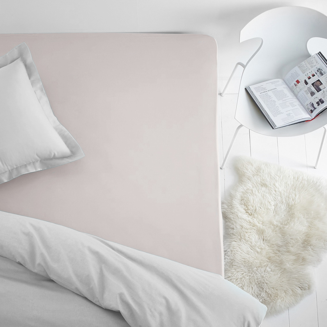 Простыня на резинке Dome, махровая, цвет: молочный, 120x200 см