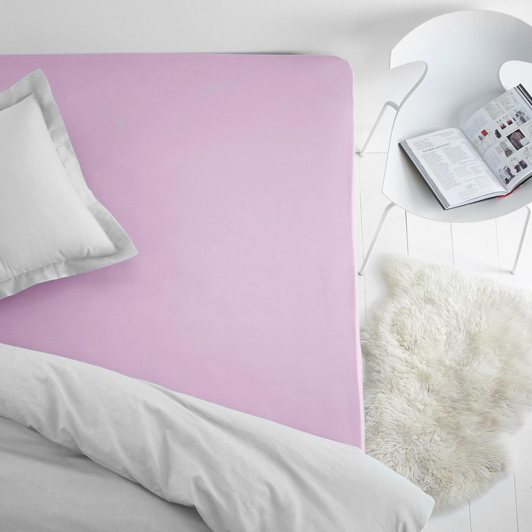 Простыня на резинке Dome, махровая, цвет: фиолетовый, 140x200 см