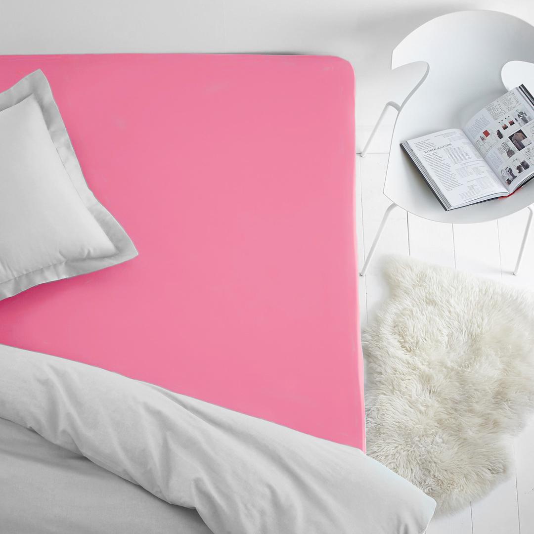 """Простыня на резинке """"Dome"""", махровая, цвет: коралловый, 160 x 200 см"""