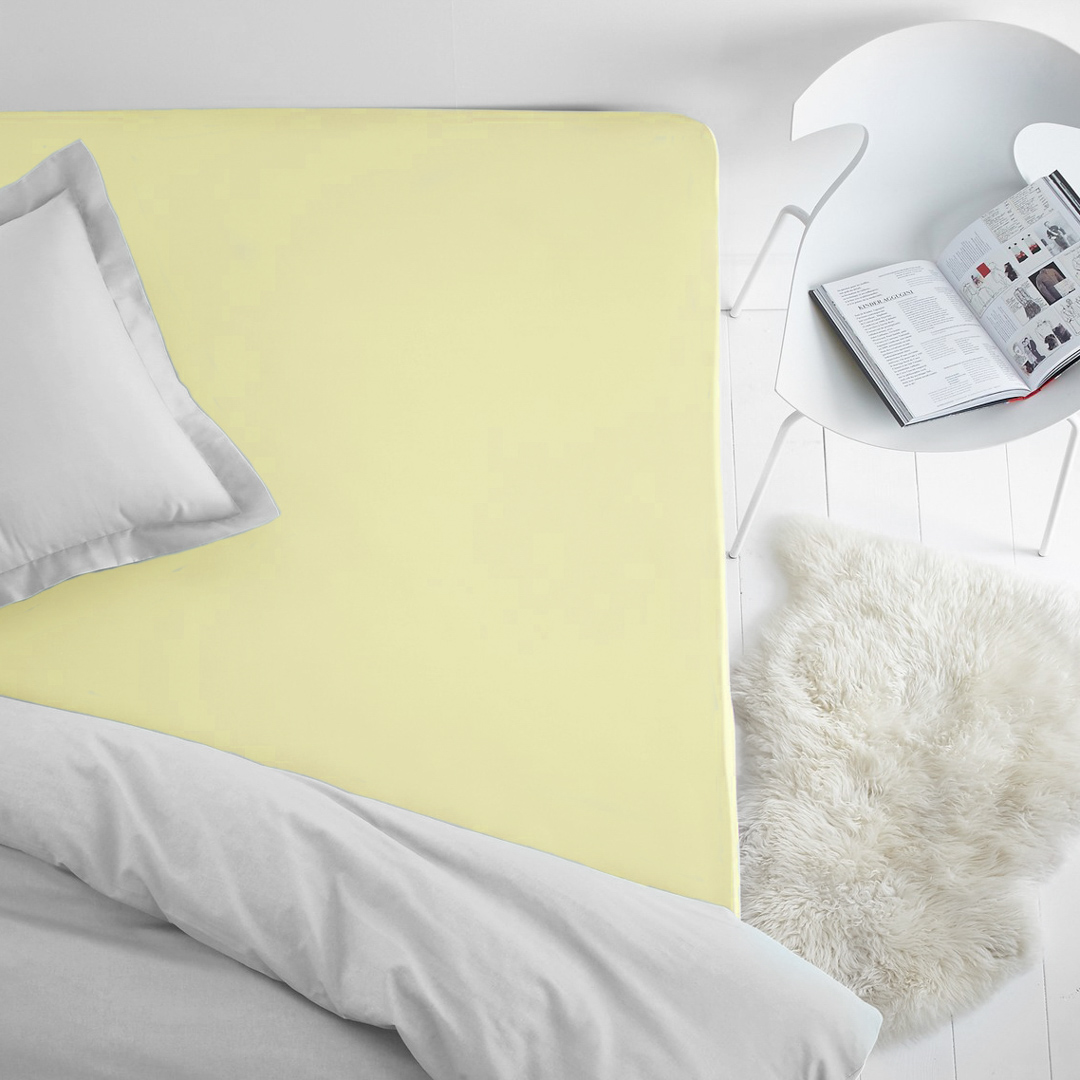 Простыня на резинке Dome, махровая, цвет: нежно-желтый, 200x200 смdme282318Махровая простынь из 100% хлопка - это выбор в пользу тепла, уюта долговечности и многофункциональности. Махровая ткань отлично отводит лишнюю влагу от тела, что дает ощущения чистоты и свежести даже в жаркую летнюю ночь. Резинка по всему периметру не даст простыне сбиться. Махровая простыня может выполнять так же и роль наматрасника, защищая матрац от пыли, а так же придавая дополнительную мягкость.