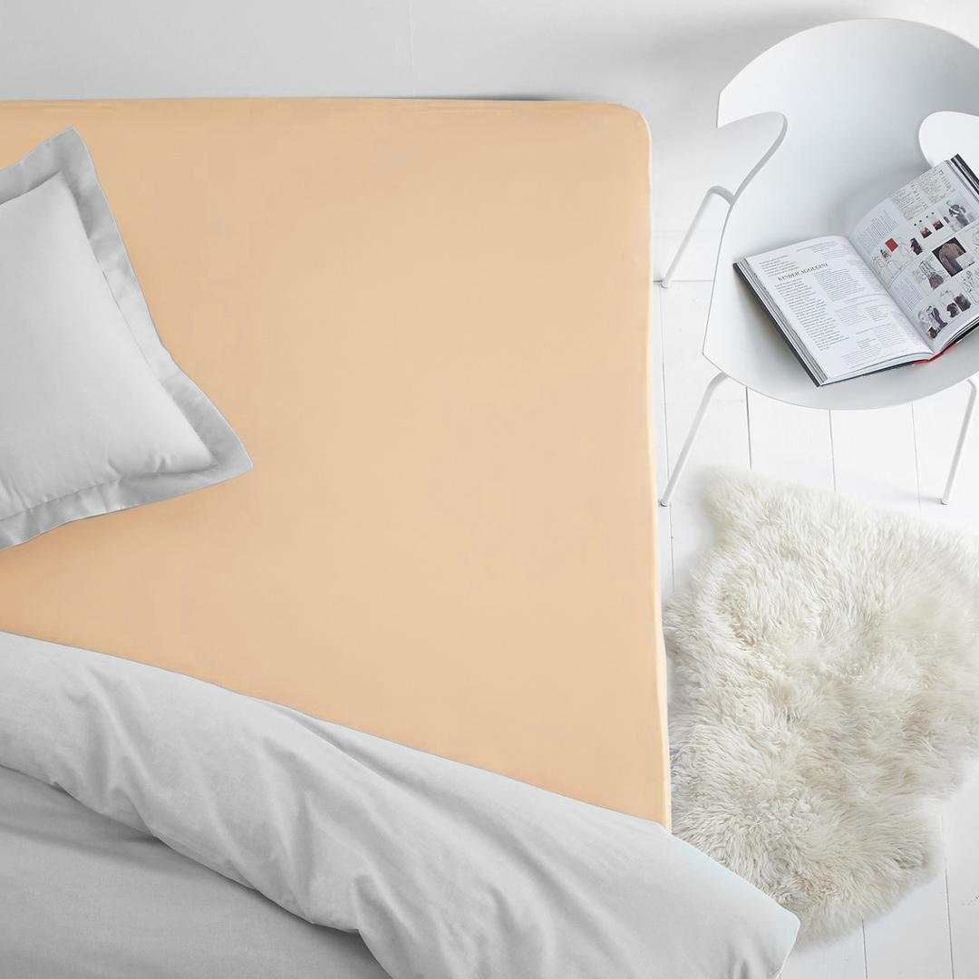 Простыня на резинке Dome, махровая, цвет: персиковый, 200 x 200 смdme282319Махровая простынь из 100% хлопка - это выбор в пользу тепла, уюта, долговечности и многофункциональности. Махровая ткань отлично отводит лишнюю влагу от тела, что дает ощущения чистоты и свежести даже в жаркую летнюю ночь. Резинка по всему периметру не даст простыне сбиться. Махровая простыня может выполнять так же и роль наматрасника, защищая матрац от пыли, а так же придавая дополнительную мягкость.