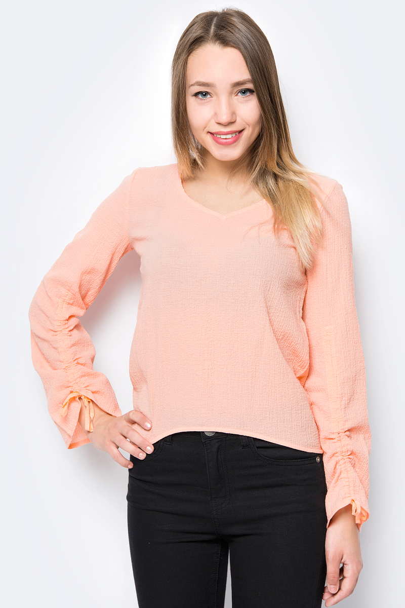 Блузка женская Sela, цвет: персиковый. Tw-112/499-8243. Размер 50