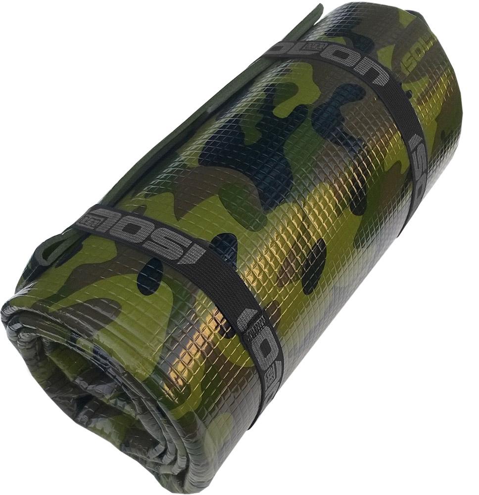 Коврик туристический Isolon Ultrapack Decor Камуфляж 4, цвет: серый, 180 х 55 х 0,4 см