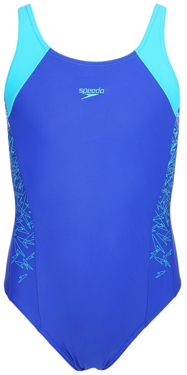 Купальник слитный для девочки Speedo Boom Spl Msbk Jf, цвет: синий, голубой. 8-10844C136-C136. Размер 176 диски для аквафитнеса speedo hydro discs голубой